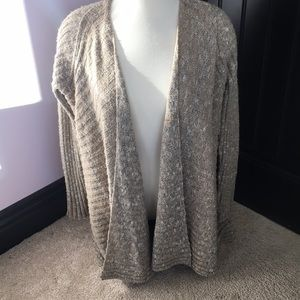 Free People Tan Open Front Cardigan S